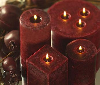 Beautiful Square Pillar Candles